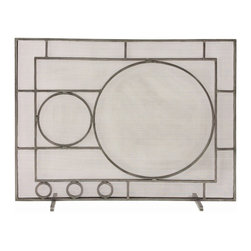 Arteriors - Hartman Screen - If you incorporated circles into a Mondrian painting, you might end up with a pattern similar to this. We adore the geometry and think it would be great in a mid-century inspired interior. Antique nickel finish on iron.