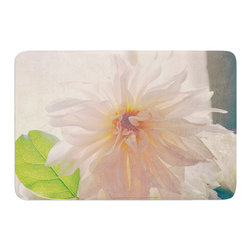 "KESS InHouse - Robin Dickinson ""Buy Her Flowers"" White Pink Memory Foam Bath Mat (17"" x 24"") - These super absorbent bath mats will add comfort and style to your bathroom. These memory foam mats will feel like you are in a spa every time you step out of the shower. Available in two sizes, 17"" x 24"" and 24"" x 36"", with a .5"" thickness and non skid backing, these will fit every style of bathroom. Add comfort like never before in front of your vanity, sink, bathtub, shower or even laundry room. Machine wash cold, gentle cycle, tumble dry low or lay flat to dry. Printed on single side."