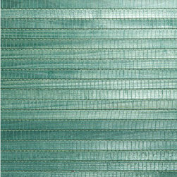 Kumi Green Grasscloth Wallpaper - A wide-weave natural bamboo grasscloth wallpaper in a bright green hue.
