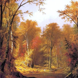 "Augustus Rockwell The Moose River - 18"" x 24"" Premium Archival Print - 18"" x 24"" Augustus Rockwell The Moose River premium archival print reproduced to meet museum quality standards. Our museum quality archival prints are produced using high-precision print technology for a more accurate reproduction printed on high quality, heavyweight matte presentation paper with fade-resistant, archival inks. Our progressive business model allows us to offer works of art to you at the best wholesale pricing, significantly less than art gallery prices, affordable to all. This line of artwork is produced with extra white border space (if you choose to have it framed, for your framer to work with to frame properly or utilize a larger mat and/or frame).  We present a comprehensive collection of exceptional art reproductions byAugustus Rockwell."