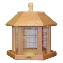 Heath - Le Grande Gazebo Feeder - Le Grande Gazebo Feeder (Cedar)  Holds up to 20lbs of Seed.  Comes Fully Assembled.  Quality in every detail make Heath Bird Feeders a perfect addition to every backyard! Fill with Premium Mixed or All-Sunflower Seed  This item cannot be shipped to APO/FPO addresses. Please accept our apologies.