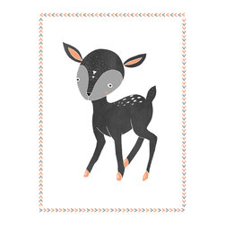 Rebecca Peragine Inc / Children Inspire Design - Boho Deer 18x24  Children's Wall Art Poster - 18x24 Wall Art Poster (frame not included)