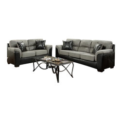 Chelsea Home Furniture - Chelsea Home Lancaster 2-Piece Living Room Set in Laredo Graphite - Lancaster 2-Piece living room set in Laredo Graphite belongs to the Chelsea Home Furniture collection .