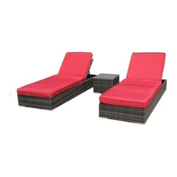 Kontiki St. Lucia Chaise Lounge Set - Refined and visually striking, the Kontiki St. Lucia Chaise Lounge Set brings classic outdoor comfort to your patio with a hip, modern style. Those good looks are bringing durability with them, as each piece starts with a frame of rust-proof and durable aluminum, the perfect material for a life outdoors. Resin wicker is woven over the frame, giving it clean, modern lines with the look and feel of traditional wicker. Thick foam cushions are covered in robust fabrics designed for outdoor use. Multiple reclining positions let you find the angle that works best for you. The matching side table is topped with a single piece of shatter-resistant glass, giving you an easy-to-maintain and functional surface.About BuildDirectBuildDirect was formed by Jeff Booth and Rob Banks, two friends who believed that it was possible to deliver high quality flooring and other building materials at an affordable price when ordered by the pallet-load. And they believed they could do it online. Now operating in 60 countries and on most continents, BuildDirect has gained a reputation for technological innovation, growth during a housing crisis, and for a company culture that is consistently appreciated by employees and partners as being positive and forward-thinking, with an attitude that encourages everyone to get better everyday.
