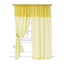 Ombré Waves Curtain - Not only do I love the cheerful color of these curtain panels, but I love the dip-dye effect too.