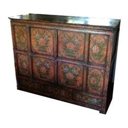Antique Wooden Tibetan Chest - $5,000 Est. Retail - $3,000 on Chairish.com -