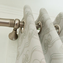 Trumpet Finial - We carry many different types of hardware, including curtain rods and finials, hand made glass and ceramic knobs and pulls, and commercial cabinet hardware.  Our line of window treatment hardware is made by Rowley and comes in lots of different finishes.