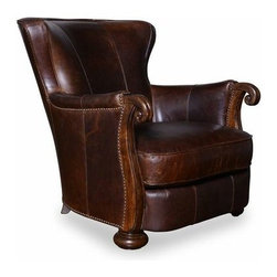 A.R.T. - A.R.T. Kennedy Leather Lounge Chair in Walnut - Sink into amazing comfort at the end of a hard day with this Kennedy Living Room Collection with solid wood construction. In rich walnut finish that features button tufting design in flat, bun feet support . Contemporary style with modern transitional appeal, this Kennedy Living Room Collection is a classy and elegant addition to your home that makes a perfect fit for your existing living room furniture or complete your living room furniture with the rest of the collection.