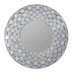 "Cooper Classics - Arden White Wash Round Mirror - Add ornate eye-catching appeal to a room's d�cor with the stunning Arden Mirror.  This striking white wash finished wall mirror will add character to any motif. Frame Dimensions: 31.25""W X 31.25""H; Mirror Dimensions: 15.5""W X 15.5""H; Finish: White Wash; Material: Wood and Metal; Beveled: No; Shape: Round; Weight: 22 lbs; Included: Brackets, Ready to Hang"