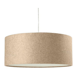 IMPORT LIGHTING & FURNITURE - Short Drum Pendant Light, 15.8'' - The simple, sophisticated design and neutral coloring makes this go-anywhere pendant lamp an ideal option for creating ambient light in an easy and stylish way. Its short height is a great solution for low ceilings or hallways.