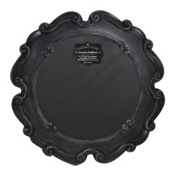 "Enchante Accessories Inc - Parisian Home Round Wooden Framed Chalkboard / Blackboard 23"" Diameter (Black) - This message board features a Ornately carved Wooden Framed chalkboard. Use it as a traditional board for notes & to-do lists. With a wooden frame, this chalkboard works as well in the dining room, kitchen or mud room as it does in the home office."