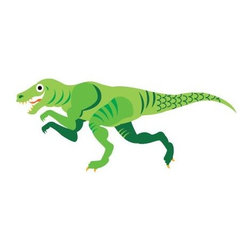 Boys room wall decor - Dinosaur wall decals. Collect all 3 in gold, green and blue. Great decorating for your kids walls.