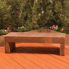Mediterranean Outdoor Benches by Yard Art