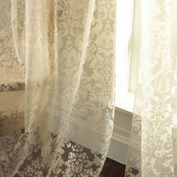 Olivia Damask Curtains - Sheer and elegant, these damask curtains from Dian Austin Couture Home are ideal for a bedroom or living room with that perfect amount of lighting filtering through tree branches.