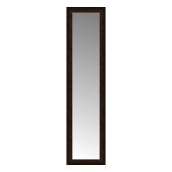 """Posters 2 Prints, LLC - 14"""" x 51"""" Dark Copper Custom Framed Mirror - 14"""" x 51"""" Custom Framed Mirror made by Posters 2 Prints. Standard glass with unrivaled selection of crafted mirror frames.  Protected with category II safety backing to keep glass fragments together should the mirror be accidentally broken.  Safe arrival guaranteed.  Made in the United States of America"""