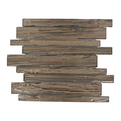 """GlassTileStore - Terrene Copper Beech Planks Glass Tile - TERRENE COOPER BEECH PLANKS GLASS TILE  This striking glass can make any room atheistically appealing. The wavy finish brings a distinctive design and will add a nice touch for a contemporary and modern room. This tile is great to use for the bathroom, kitchen or pool installation.      Chip Size: Random   Material: Glass   Color: Metallic Copper    Finish: Polish   Sold by the Sheet - sheet size: 10 3/4""""x11 3/4"""" (0.88 sq.ft)   Thickness: 3mm             - Glass Tiles -"""