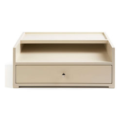 "Global Views - Desk Organizer - This elegant ivory organizer by Barbara Barry is ideal for storing desktop items, even jewelry and personal belongings. Measures 13.5""l x 9.5""w x 5.5""h."
