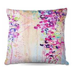 DiaNoche Designs - Pillow Woven Poplin - Dance of the Sakura - Toss this decorative pillow on any bed, sofa or chair, and add personality to your chic and stylish decor. Lay your head against your new art and relax! Made of woven Poly-Poplin.  Includes a cushy supportive pillow insert, zipped inside. Dye Sublimation printing adheres the ink to the material for long life and durability. Double Sided Print, Machine Washable, Product may vary slightly from image.