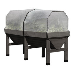 VegTrug - VegTrug Patio Garden Kit, Charcoal - VegTrug with Covers is a climate controlled elevated raised bed for intensive vegetable gardening.
