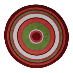 Fun Rugs - Concentric-3 Multicolor Kids Rug - Your child's room is a natural extension of them. Add these innovative designs from LA Rug to spruce up any child's decor.