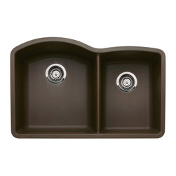 Blanco - BLANCO 440177 DIAMOND Undermount 1-3/4 Bowl Silgranit II - Cafe Brown - Name the shape. Name the application. The DIAMOND collection has you covered. Every detail has been considered from the greater bowl capacity to the easy-to-clean surface, which resists scratches and stains.