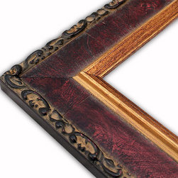 The Frame Guys - Aged Sicilian Red Picture Frame-Solid Wood-8.5x11 - *Aged Sicilian Red Picture Frame-Solid Wood-8.5x11