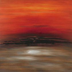 Paragon Decor - Red Sky Artwork - Reds and brown merge in a perfect configuration.  Features gallery style wrap.