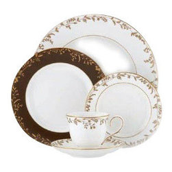 Lenox - Lenox L Collection Golden Bough 5-Piece Place Setting - Lenox L Collection Golden Bough 5-Piece Place Setting