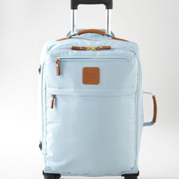 """Bric's - Bric's """"X-Bag Xtravel"""" Carry-On Trolley - Extremely lightweight and durable as well as beautiful, this collection of carry-on luggage gets you there in style. Made of polymide nylon. Select color when ordering. 18"""" folding duffel, 18""""W x 8""""D x 12""""T. Sportina elite shopper has adjustable sho..."""