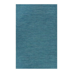 Fab Habitat - Cancun Blue Sea (8' x 10') - Every day is a relaxing day at the beach when you walk across this beautiful rug. The color sparks visions of strolling through ankle-high water along a shoreline. Time to schedule a trip to the sea … ASAP.