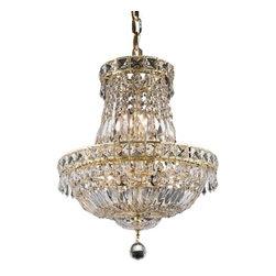 Elegant Lighting - Elegant Lighting 2528D14G Tranquil 6-Light, Two-Tier Crystal Chandelier, Finishe - Elegant Lighting 2528D14G Tranquil 6-Light, Two-Tier Crystal Chandelier, Finished in Gold with Clear CrystalsElegant Lighting 2528D14G Features: