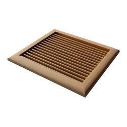 """Louvered Wall Vents, 12""""x12"""" - It is a great option for filling your remodeling or building needs. Made of solid wood from domestic and exotic, these  wooden vents give warmth to your home. These wall mounted vents can be also used as speaker grilles, lighting grilles or for other decorative architectural applications.  The outside dimensions are 12x12""""."""