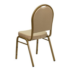 Flash Furniture - Flash Furniture Banquet Stack Chairs Banquet Stack Chairs - This is one tough chair that will withstand the rigors of time. With a frame that will hold in excess of 500 lbs., the HERCULES Series Banquet Chair is one of the strongest banquet chairs on the market. You can make use of banquet chairs for many kinds of occasions. This banquet chair can be used in Church, Banquet Halls, Wedding Ceremonies, Training Rooms, Conference Meetings, Hotels, Conventions, Schools and any other gathering for practical seating arrangements. The banquet chair is also great for home usage from small to large gatherings. For any environment that you use a banquet chair it will put your guests at a greater comfort level with the padded seat and back. Another advantage is the stacking capability that allows you to move the chairs out of the way when not in use. With offerings of comfort and durability, you can be assured that you can enjoy this elegant stacking banquet chair for years to come. [FD-C03-ALLGOLD-H20124E-GG]