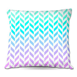 DiaNoche Designs - Pillow Woven Poplin by Organic Saturation - Ombre Herringbone Pattern - Toss this decorative pillow on any bed, sofa or chair, and add personality to your chic and stylish decor. Lay your head against your new art and relax! Made of woven Poly-Poplin.  Includes a cushy supportive pillow insert, zipped inside. Dye Sublimation printing adheres the ink to the material for long life and durability. Double Sided Print, Machine Washable, Product may vary slightly from image.