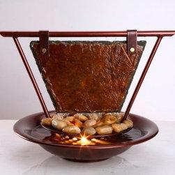 Bluworld Fountains - Bluworld Haiku Moon Tabletop Fountain -