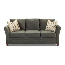 Savvy - Murano Queen Sleeper Sofa in Belsire Pewter - Murano Queen Sleeper Sofa in Belsire Pewter