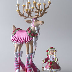 """Patience Brewster - Patience Brewster Donna Elf Ornament - Patience Brewster has designed her whimsical reindeer figures and ornaments based upon the poem """"Night Before Christmas"""" by Clement Clark Moore. The eight reindeer are called out by name, and hers bear the same names with one exception: Donner has becom..."""