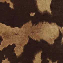 Faux Cow Hide Fabric - Brown - This large repeat faux cowhide fabric is great for your larger Southwestern and Western themed upholstery projects. The fabric has a great look and feel is very durable for most any indoor seating application. Details below ...
