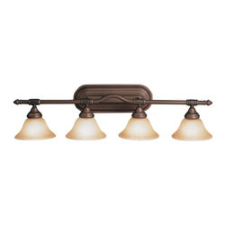 Kichler - Kichler Broadview Bathroom Lighting Fixture in Olde Bronze - Shown in picture: Kichler Bath 4Lt in Olde Bronze