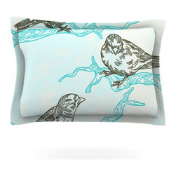 "Kess InHouse - Sam Posnick ""Birds in Trees"" Pillow Sham (Cotton, 30"" x 20"") - Pairing your already chic duvet cover with playful pillow shams is the perfect way to tie your bedroom together. There are endless possibilities to feed your artistic palette with these imaginative pillow shams. It will looks so elegant you won't want ruin the masterpiece you have created when you go to bed. Not only are these pillow shams nice to look at they are also made from a high quality cotton blend. They are so soft that they will elevate your sleep up to level that is beyond Cloud 9. We always print our goods with the highest quality printing process in order to maintain the integrity of the art that you are adeptly displaying. This means that you won't have to worry about your art fading or your sham loosing it's freshness."