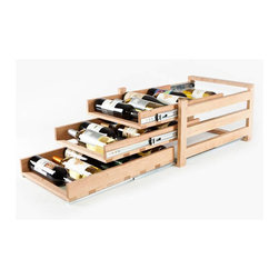 WineLogic - WineLogic Wine Rack - 18 bottle - Wine Logic is an innovative wine storage solution designed to fit into base cabinets or can be self-standing for use on countertops, in closets, bars, or in other locations throughout the home.