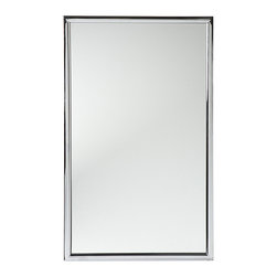 Southern Enterprises - Vogue Chrome Wall Mirror - Finished with shimmering chrome, this simple yet elegant mirror accents the home with contemporary style as it reflects. �� 22'' W x 36'' H Chrome / glass / metal Ready to hang Imported