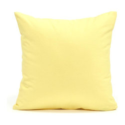 "Blooming Home Decor - Solid Yellow Accent / Throw Pillow Cover, 16""x16"" - (Available in 16""x16"", 18""x18"", 20""x20"", 24""x24"", 26""x26"", 12""x20"", 20""x54"")"
