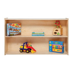 Contender - Contender Shelf Storage Multicolor - C12600 - Shop for Childrens Toy Boxes and Storage from Hayneedle.com! With its unassuming simplicity the Wood Designs Contender Shelf Storage is the ideal place to start or add a finishing touch to any child's play area. Less than 4 feet wide this shelving unit will easily complement and not overcrowd an established area your child already loves. The accessible shelves allow children the confidence to get their favorite toys and easily put them away after play.Being certified by the Greenguard Environmental Institute ensures the highest safety and environmentally responsible standards were adhered to during the conception and construction of this furniture. Certified products are intended to be suitable for environments your children spend significant time in so you can feel at ease having them in your home or seeing them in your child's school or daycare.About WDM Inc.For 30 years Wood Designs has put passion for the enrichment and safety of children into quality wooden early learning furniture. Dennis and Debbie Gosney the couple behind this labor of love have taken their 50 years combined experience in child development furniture manufacturing and built a company at the forefront of innovation and safety.Intuitive design coupled with novel safety features like Pinch-me-not hinges and Tip resistant furniture set Wood Designs apart from the typical early learning furniture manufacturers.
