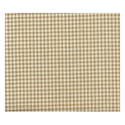 """Close to Custom Linens - 15"""" Bedskirt Gathered Beige Gingham, Linen Beige, Queen - A charming traditional gingham check in linen beige on a cream background. Gathered with 1 1/2 to 1 fullness, split corners and a 15"""" drop. Cotton/poly platform."""