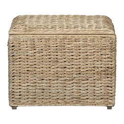 Westport Natural Storage Cube | Crate&Barrel - This fun wicker cube will bring a bit of eclectic coastal style to your home. It's a wonderful accent piece that can hide all of your clutter in a pinch.