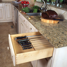 Traditional Kitchen Drawer Organizers by Heartwood Kitchens