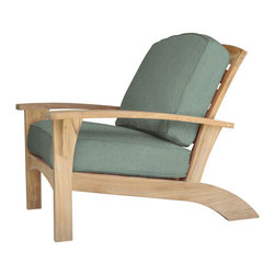 Douglas Nance - Douglas Nance Augusta Deep Seating Club Chair, Spa - Douglas Nance Augusta is a leap away from the ordinary. This collection combines the Americana feel of an Adirondack chair with the grand comfort and style of fine teak deep seating furniture - and it reclines! Includes made-to-order Sunbrella cushion available in nine colors (Navy, Chili, Dolce, Fern, Marina, Natural, Parrot, Spa, Westin).
