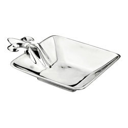 """Arthur Court - French Lily 6.5"""" Square Bowl - The iconic French lily design on this tray makes it an elegant addition to any table. Offer your guests nuts or candies with a special French flair. At the end of your evening, simply wash the bowl with mild dish soap and towel dry and you are ready for your next party."""