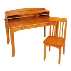 KidKraft - Avalon Desk with Hutch, Honey by Kidkraft - KidKraft's honey Avalon Desk with Hutch would look perfect in any child's bedroom. This desk gives kids a great place for working on homework and a perfect spot for storing pictures, trophies and collectibles.